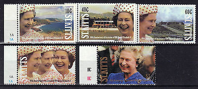 St KITTS 1992 QEII ACCESSION Unmounted Mint MNH Re:Y166