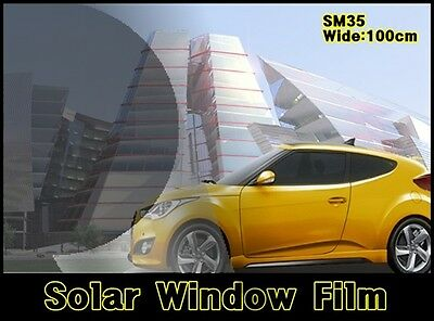 """WIDE:20""""/VLT 35% Black Solar Film/Tint/Window/Glass/1PLY Normal/Privacy/Roll/"""