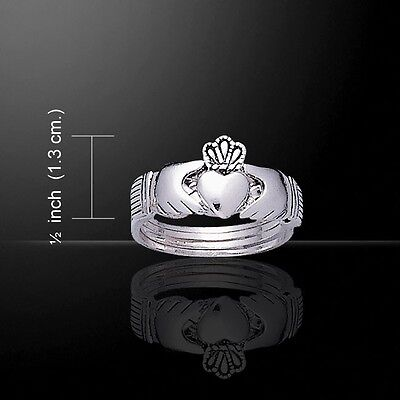 Silver CLADDAGH Irish Design PUZZLE Ring - Size Selectable- Love and Friendship