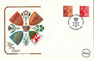 (26625) GB Northern Ireland Cotswold FDC 11p 10p Belfast 20 October 1976
