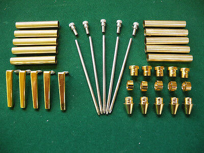 Woodturning CREDIT CARD Ball Point Kit in Gold