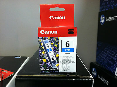 BRAND NEW GENUINE FACTORY SEALED CANON BCI-6C CYAN INK TANK 4706A003[AB] PIXMA