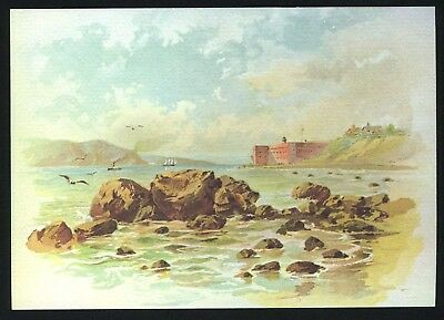 c.1880s SAN FRANCISCO FORT POINT,GOLDEN GATE & BAY~NEW c.1980 NOTE CARD/POSTCARD