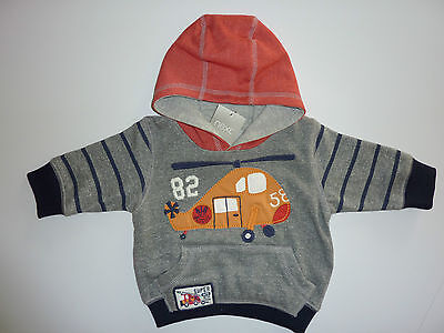 NEXT Gorgeous Little Boys Grey Helicopter Hoodie 3-6 Months NWT