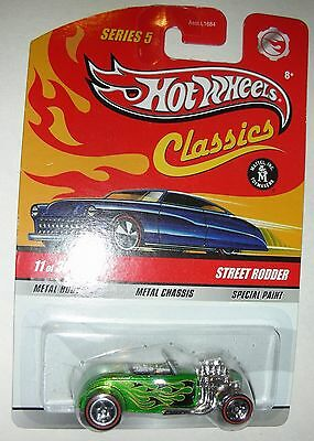 Green with flames Street Rodder 11 of 30 2008 Hot Wheels 1:64 scale
