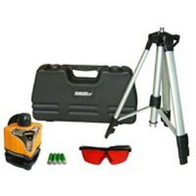 New Johnson 40-0918 Manual Rotary Laser Level Kit Bracket Tripod Glasses Case