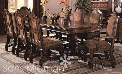 Chateau traditional formal dining room furniture set - Chateau Traditional 9 Piece Formal Dining Room Set Table