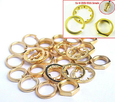 20set 36UNS-2B SMA Screw nut Gold Plated Screw nut for Standard SMA Female Φ6mm