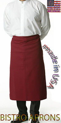 Professional Chef Waitress Bar Bistro Cafe Waist Short Apron Made In Usa