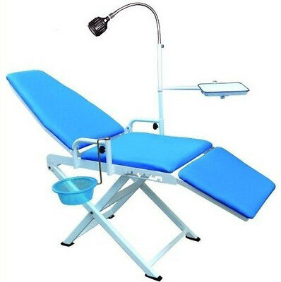New Updated Portable Folding Dental Chair Cuspidor Tray Mobile Equipment