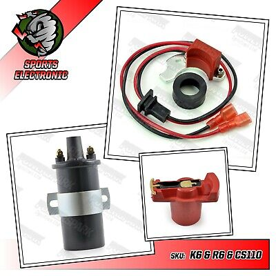 Electronic ignition for Bosch distributors Rotor arm & Lucas DLB110 ballast coil