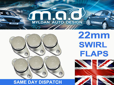 6 x BMW SWIRL FLAP BLANKING REPLAMENT BUNGS 22MM 320 330 520 530 525 535 730D