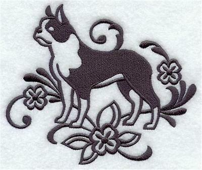 Lovely Soft Fleece Pet Blanket embroidered with  Graceful Boston Terrier (G5198)