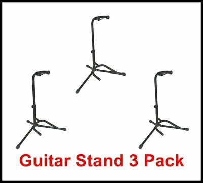 L.A Stands - Tubular heavy duty guitar stand -electric Acoustic Bass 3 Pack