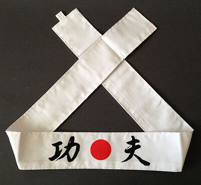 "Japanese Martial Arts Sports Hachimaki ""KUNG FU"" KUNG-FU Headband, Made in Japan"
