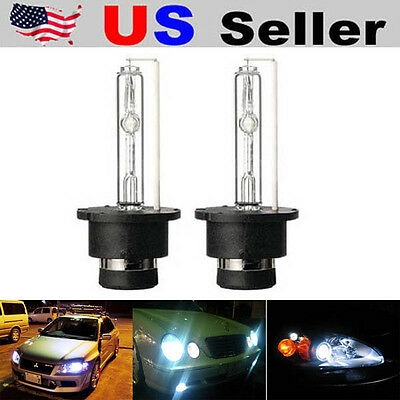 (2) 6000K Ultra White D2S D2R HID Xenon Bulbs Replace Stock 4300K Headlights