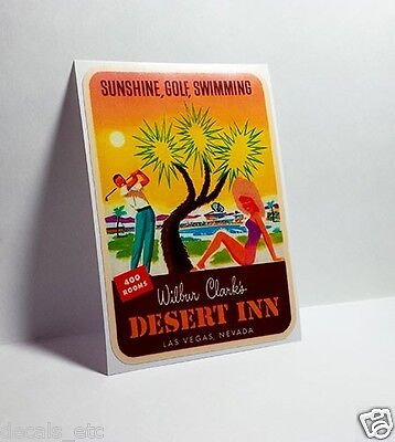 Desert Inn, Las Vegas Vintage Style Travel Decal / Vinyl Sticker, Luggage Label