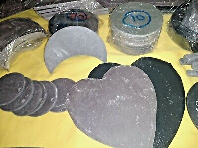 75pc Job lot MIXED POLISHED & RIVEN welsh SLATE over runs 2nds asstd shapes size