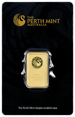 Perth Mint 10 Gram .9999 Gold Bar -New Sealed With Assay Certificate SKU27177