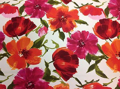 Vilber Textiles Bold Flower Print Fabric- Fresh Flowers- 15 yard BOLT $825 VALUE