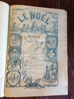LE NOEL 1898 VERY RARE BEAUTIFUL FRENCH ANTIQUE CHRISTMAS BOOK COLLECTOR'S ITEM