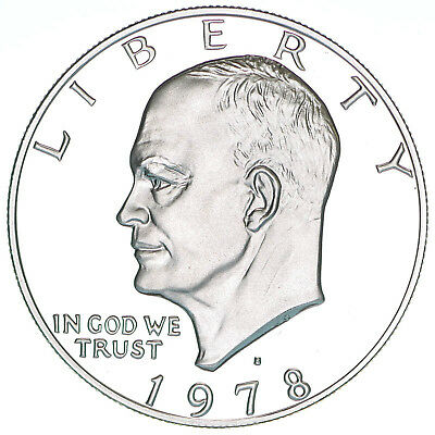 1978 S Eisenhower Dollar Gem Deep Cameo Proof CN-Clad Ike US Coin