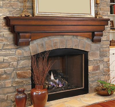 Pearl Mantel Auburn arched fireplace mantel or TV shelf. Pick size, finish.