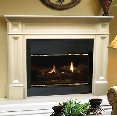 Classique traditional unfinished Fireplace Mantel, Pearl Mantels. Pick size
