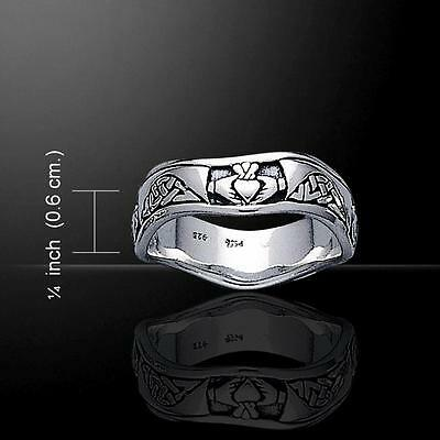 Combined Claddagh & Celtic Knot Wedding Ring - .925 sterling silver