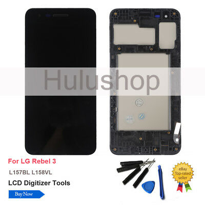 LCD DISPLAY SCREEN Touch For LG Rebel 3 L157BL Assembly Frame Digitizer  Replace