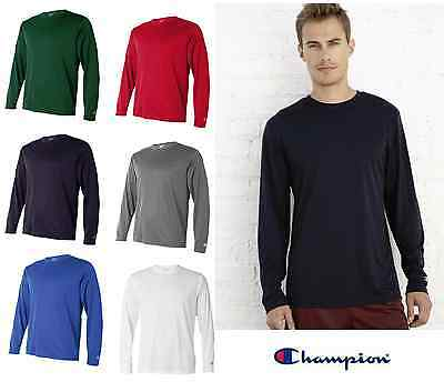 a27786b3 Champion Double Dry Performance Long Sleeve T Shirt Mens Tee S-3XL CW26