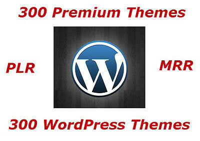 300 Premium Wordpress Themes With Resell Rights - CD/DVD