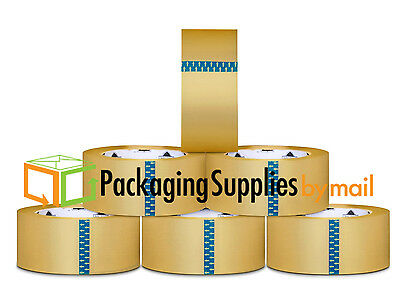 "6 Rolls Clear Box Carton Sealing Packing Tape Shipping - 1.9 mil 2"" x 110 Yards"