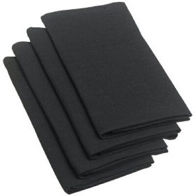 80 black restaurant wedding catering dinner cloth linen napkins 20x20