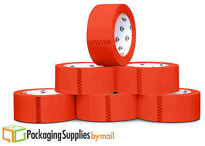 Red Color Packing Tape 2 inch x 110 Yds x 12 Rolls Sealing Tape 2 Mil
