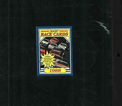 """1988 Maxx Race Cards  """"Fill Your Set"""" Pick 10"""