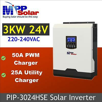 (HSE) 3kva 2400w 24V pure sine wave off grid solar power inverter 50A charger