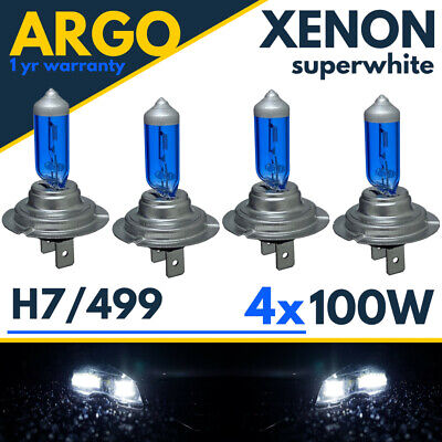 H7 Xenon Super White 100W Bulbs Dipped Beam 12V Headlight Headlamp Hid Light X 4