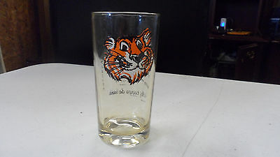 VINTAGE 1960'S ESSO TIGER IN YOUR TANK  FOREIGN LANGUAGES AD GLASS
