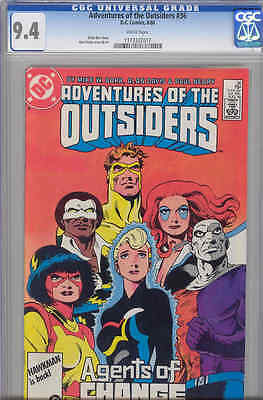 Adventures of the Outsiders #36 CGC 9.4 1986 DC Comic Mike Barr & Alan Davis