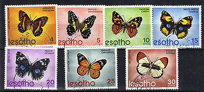 LESOTHO 1973 BUTTERFLIES 7v Very Fine Used SG239-245 Ref:Y266