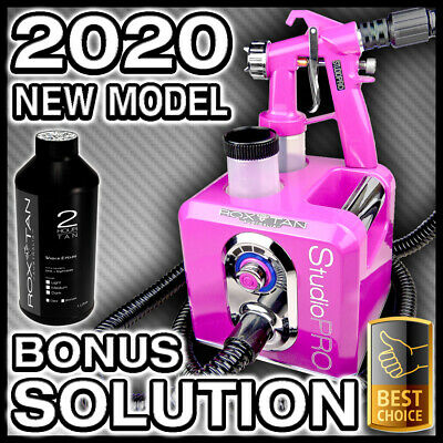 Pink Spray Tanning Machine Kit - Hvlp Sunless Tan Gun Unit - Bonus Solution New