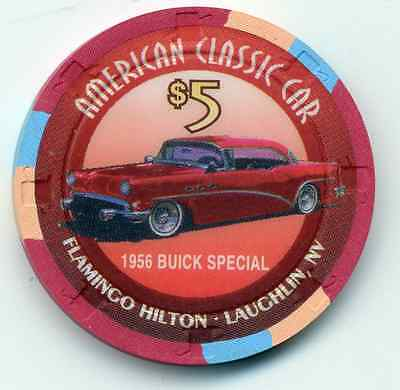 FLAMINGO HILTON LAUGHLIN  1956 BUICK SPECIAL   $5 CASINO CHIP