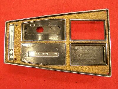 Air Conditioning Corvette 1972-1976  Console Shifter Plate w// Auto Trans Nice