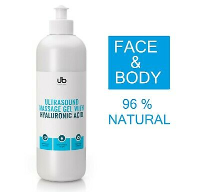 Ultrasound Gel With Hyaluronic Acid For Cosmetic Treatments 250 Ml