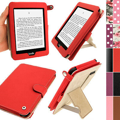 """Red PU Leather Case for Amazon Kindle PaperWhite 3G 6"""" Wi-Fi 2GB Cover Holder"""