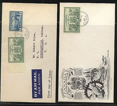Canada  2  special delivery covers, one with cachet     KEL0113