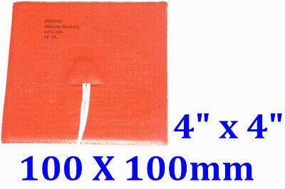 Silicone Pad Heater 100mm X 100mm 50W 12V With 3M backing 1PC New Free Shipping
