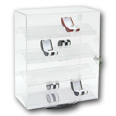 Rotating Acrylic Display Case Countertop Display Cabinet Phone Display Stand