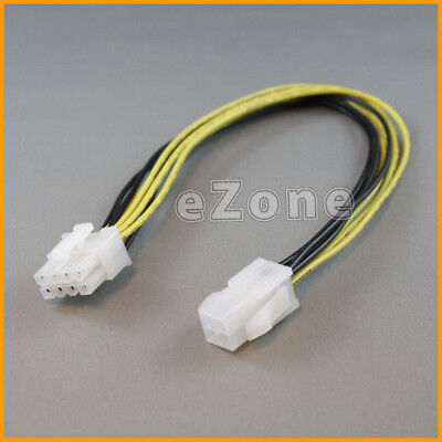 "12"" Inch 30cm ATX 4pin Male to 8pin Female Power Cable Cord Adapter"
